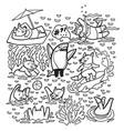 coloring print with cute tasmanian devil vector image vector image