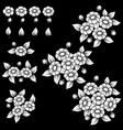 daisy white elements vector image vector image