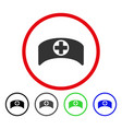 doctor cap rounded icon vector image