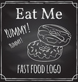 eat me elements on theme restaurant vector image vector image