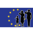 european union soldier family salute