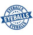 eyeballs round grunge ribbon stamp vector image vector image