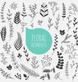 floral elements collection spring flowers vector image vector image