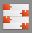four orange piece puzzle infographic 4 step puzzle vector image vector image