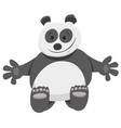 funny panda bear cartoon animal character vector image vector image