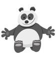 funny panda bear cartoon animal character vector image