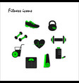 green fitness icons vector image vector image