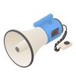 hand speaker icon isometric style vector image vector image