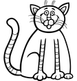 happy cat cartoon for coloring book vector image vector image