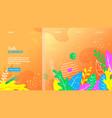 hello summer floral design on orange background vector image