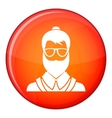 Hipsster man icon flat style vector image