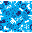 ice hockey sport icons blue seamless pattern eps10 vector image vector image