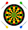 icon with darts vector image