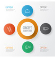 icons set collection of stick batbecue dining vector image vector image
