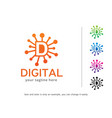 letter d logo template design vector image