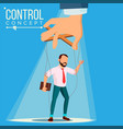 manipulation businessman control concept vector image