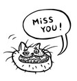 miss you cartoon cat head vector image