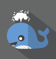 Modern Flat Design Whale Icon vector image