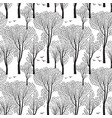 nature seamless pattern forest background trees vector image vector image