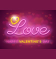 neon valentines day design vector image vector image
