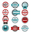 original quality guarantee labels templates for vector image