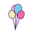 party decoration bunch balloons celebration vector image