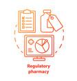 pharmacy concept icon regulatory pharmacology vector image