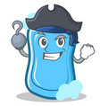 pirate blue soap character cartoon vector image