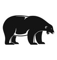 polar bear howl icon simple style vector image vector image