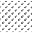 Polka dot gray double seamless pattern vector image vector image