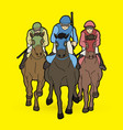 riding horse race horse jockey equestrian vector image