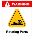 Rotating Parts Hazard sign vector image vector image