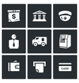 Set of Banking services Icons Money Bag vector image