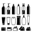 set of cosmetics bottles vector image vector image