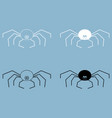 spider the black and white color icon vector image vector image