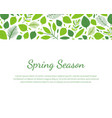 spring season landing page template with place for vector image