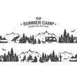 summer camp seamless pattern vector image vector image