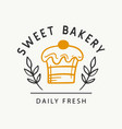 sweet bakery logotype template badge label vector image vector image