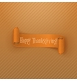 Thanksgiving greeting Card with orange Ribbon vector image