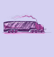 truck van child drawing vector image