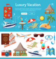vacation and tourism infographics vector image