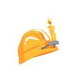 vintage orange miners helmet mining industry vector image vector image