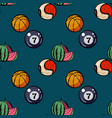 watermelon billiards basketball and baseball vector image vector image