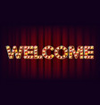 welcome banner sign for banner poster vector image vector image