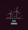 wind energy logo template flat style icon design vector image