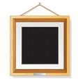 Wooden Photo Frame on the Wall vector image vector image