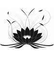 Black japanese lotus vector image