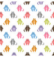 seamless pattern with cute colorful cats vector image