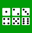 dice dice icon casino winning win flat design vector image