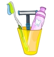cartoon home washroom vector image